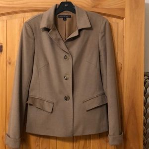 Lafayette 148 New York Camel Color Tailored Jacket